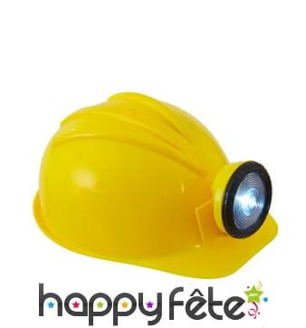 Casque jaune de chantier pour adulte