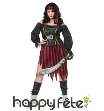 Costume jupe de femme pirate grande taille