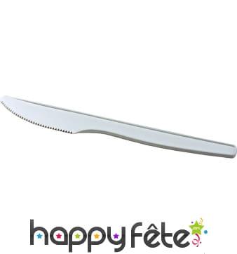 Couteaux jetables en bioplastiques