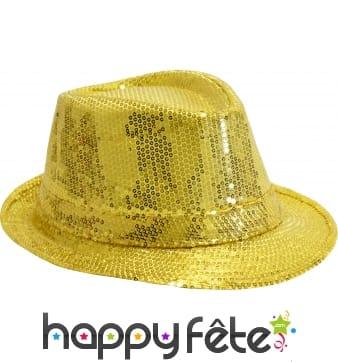 Chapeau Justin pailletté or