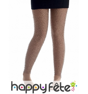 Collants jambes poilues
