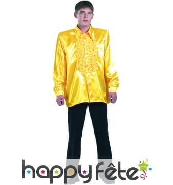 Chemise jaune super ruche homme