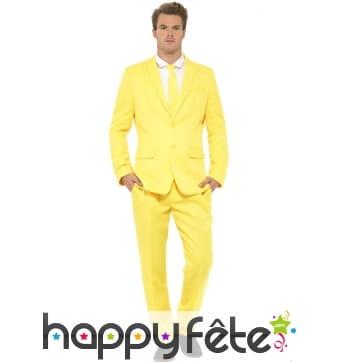 Costume jaune uni
