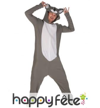 Combinaison koala à capuche pour homme