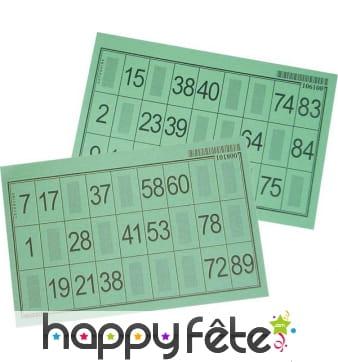 Carton loto bingo épais 2/100 mm