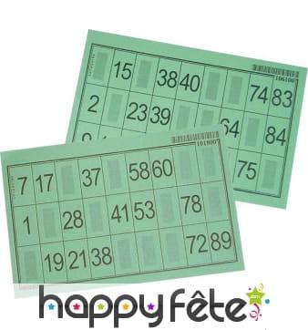 Carton loto bingo epais plastifie