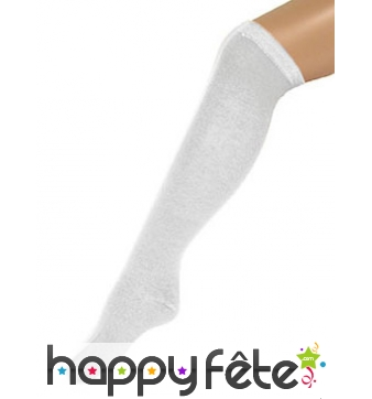 Chaussettes longues blanches