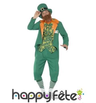Costume Leprechaun cul nu pour homme
