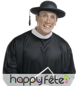 Chapeau large de religieux pour adulte