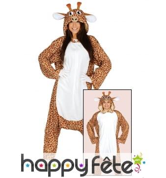 Combinaison large de girafe pour adulte