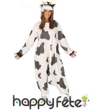 Combinaison large de vache tachetée pour adulte