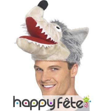 Chapeau loup gris
