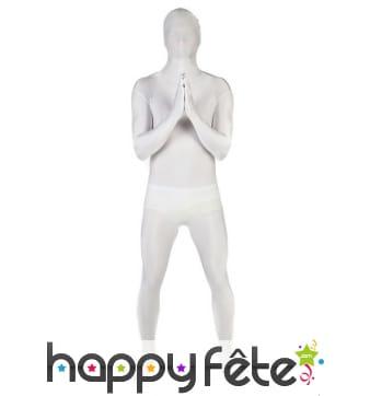 Combinaison Morphsuits blanche unie pour adulte