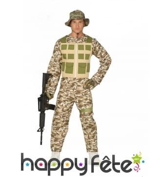 Combinaison militaire camouflage pour homme
