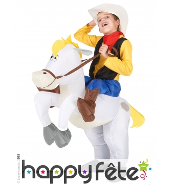 Carry me de Lucky Luke et Jolly Jumper, enfant