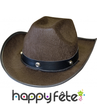 Chapeau marron de cowboy