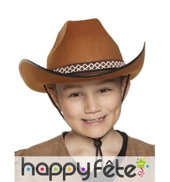 Chapeau marron de petit Cowboy
