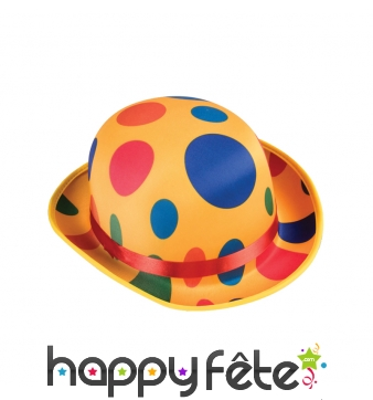 Chapeau melon de clown jaune