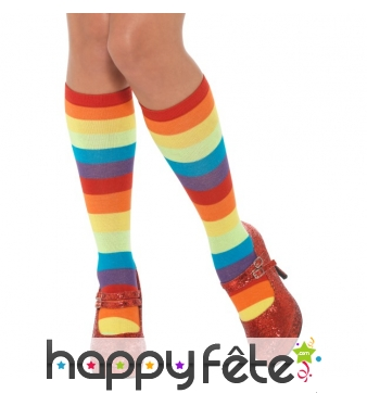 Chaussettes multicolores de clown