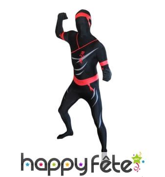 Combinaison Morphsuit de ninja pour adulte