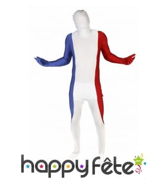 Combinaison Morphsuit drapeau Français