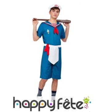 Costume marin de vendeur de glace pour homme