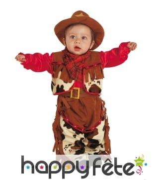 Costume marron de bébé cowboy