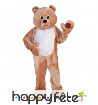 Costume mascotte d'ours brun