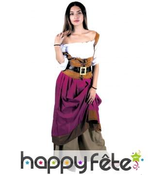 Costume médiéval de tavernière pour femme