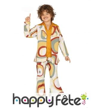 Costume motifs disco année 80 pour enfant