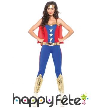Costume moulant de Wonder Woman