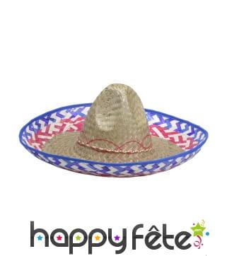 Chapeau mexicain en paille naturelle