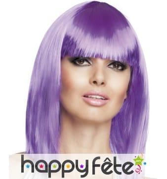 Carré mi-long violet brillant