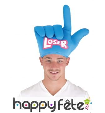 Chapeau main loser bleue pour adulte
