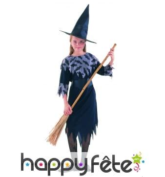Costume mi long de petite sorcière