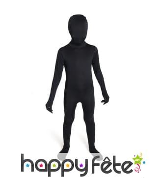 Combinaison Morphsuit noire pour enfant