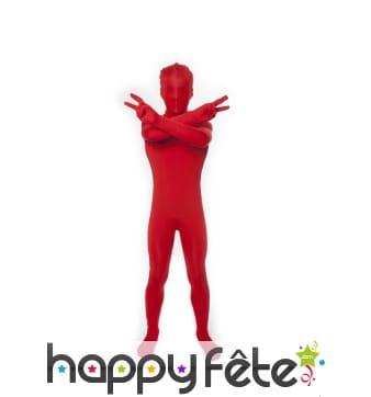 Combinaison Morphsuit rouge pour enfant