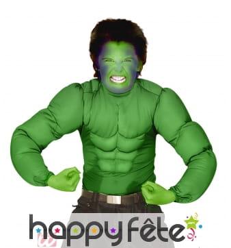 Chemise muscle vert hulk