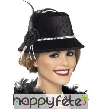 Chapeau noir années 20