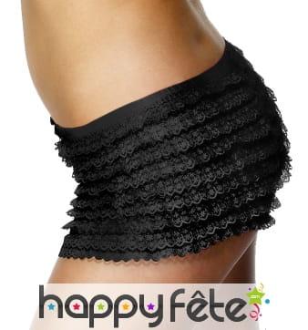 Culotte noire avec froufrou de taille standard