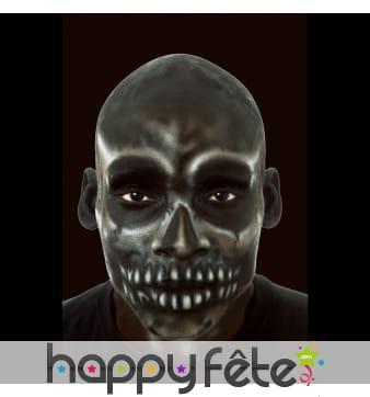 Crâne noir chauve en latex