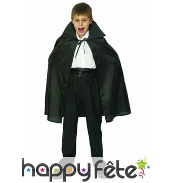 Cape noire d'halloween pour enfant