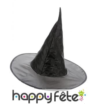 Chapeau noir de sorcière traditionnel