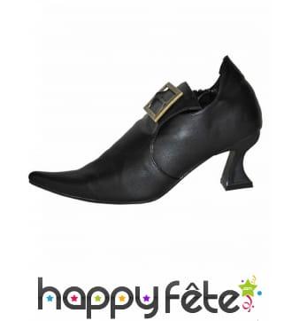 Chaussures noire de sorcière à petits talons