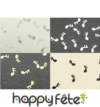 Confettis note de musique pour la table