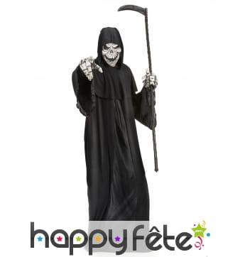 Costume noir de la faucheuse squelette