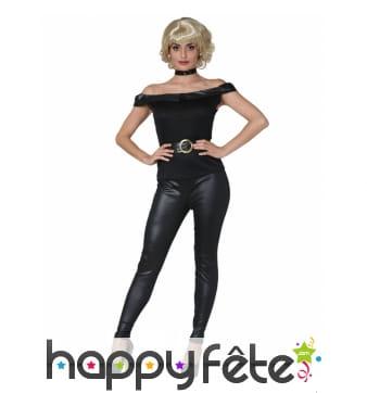 Costume noir de Sandy pour femme