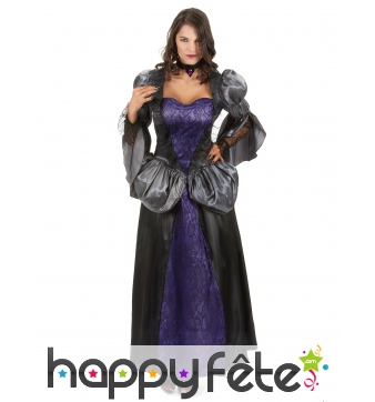Costume noir et violet de femme vampire
