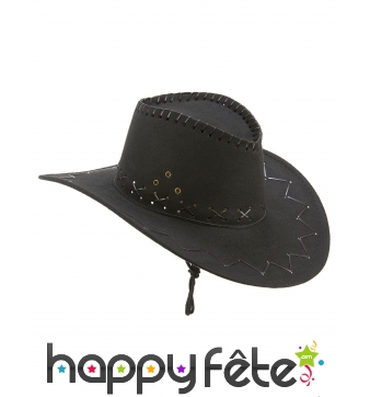Cowboy noir en suedine, luxe