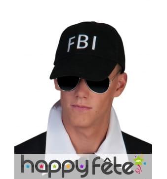 Casquette noire FBI adulte